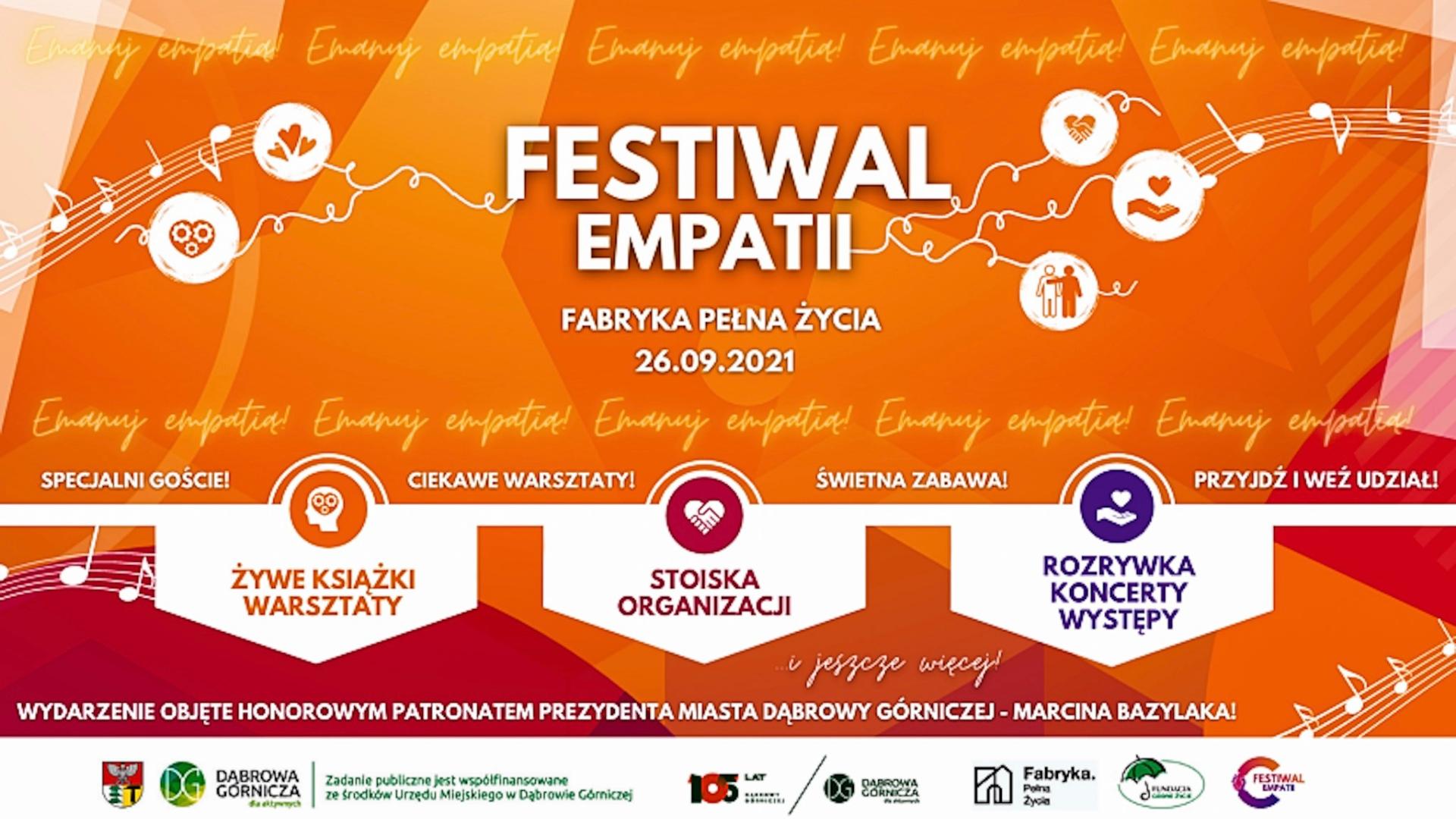 plakat na festiwal empatii