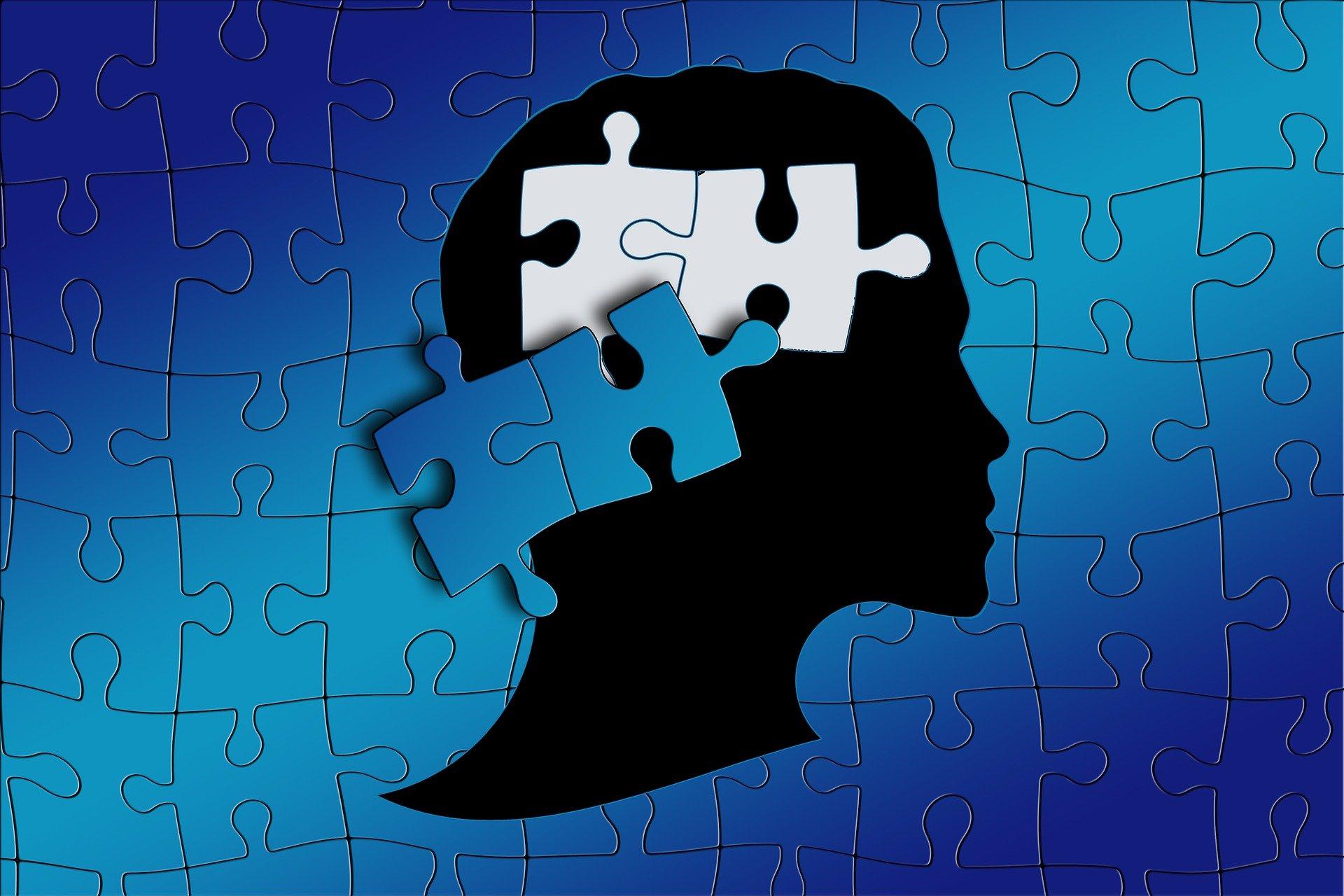 głowa człowieka i puzzle